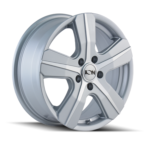 16x7 5x160 6.17BS Type 101 Silver/Machined Face - Ion Wheel
