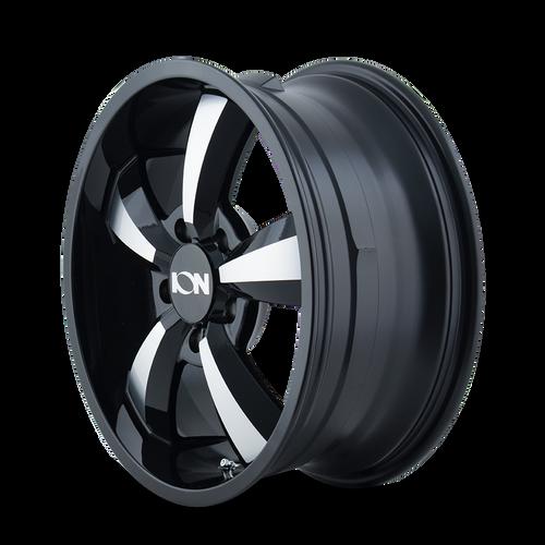 18x8 5x130 6.47BS Type 102 Gloss Black/Machined - Ion Wheel