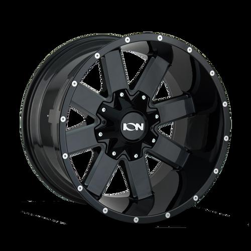 18x9 5x5/5x5.5 5.71BS Type 141 Gloss Black/Milled Spokes - Ion Wheel