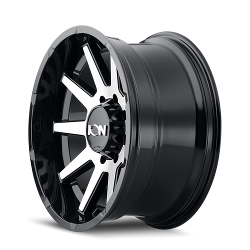20x10 6x135 4.75BS Type 143 Gloss Black/Machined Face - Ion Wheel