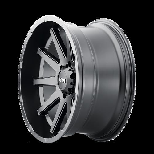 20x10 8x180 4.75BS Type 143 Matte Black - Ion Wheel