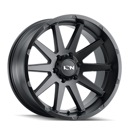 17x9 8x170 5.71BS Type 143 Matte Black - Ion Wheel