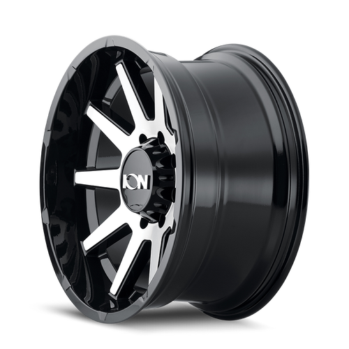 17x9 8x6.5 4.53BS Type 143 Gloss Black/Machined Face - Ion Wheel