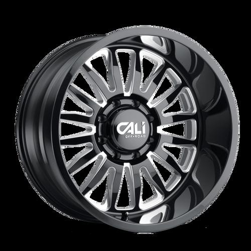 20x9 8x170 5BS 9110 Summit Gloss Black/Milled Accents - Cali Off Road