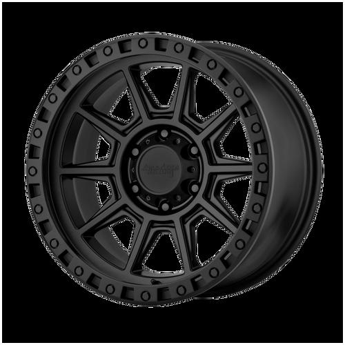 16x8 5x5.5 4.5BS AR202 Black Iron - American Racing