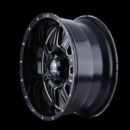 18x9 8x180 4.53BS 8100 Monstir Black/Milled Spokes - Mayhem Wheels