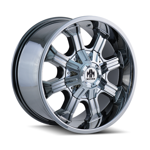 20x9 8x170 5BS 8102 Beast Gloss Black/Milled Spokes - Mayhem Wheels