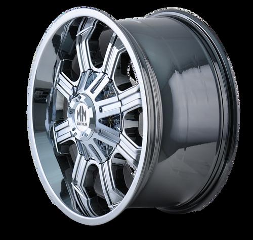 20x9 8x170 4.53BS 8102 Beast Gloss Black/Milled Spokes - Mayhem Wheels