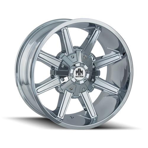 22x12 8x180 4.77BS 8104 Arsenal Chrome - Mayhem Wheels
