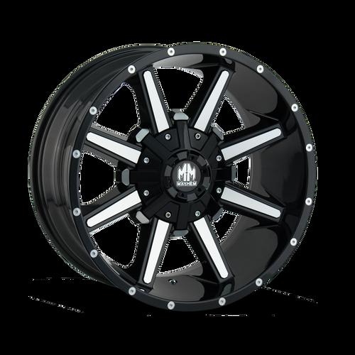20x9 8x170 5BS Arsenal Gloss Black/Milled Spokes - Mayhem Wheels