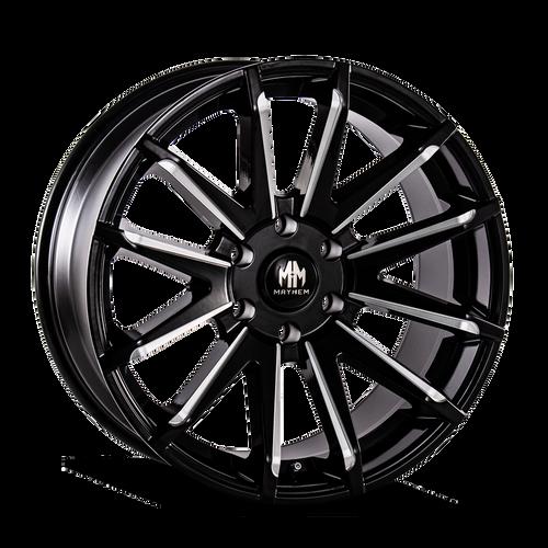 22x9.5 6x5.5 6.23BS 8109 Crossfire Black/Milled Spokes - Mayhem Wheels