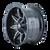 17x9 6x5.5/6x135 5.75BS 8090 Rampage Black/Milled - Mayhem Wheels