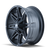 17x9 5x4.5/5x5 4.53BS 8090 Rampage Matte Black - Mayhem Wheels