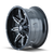 17x9 8x180 5.75BS 8090 Rampage Black/Milled - Mayhem Wheels