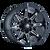 18x9 5x4.5/5x5 4.53BS 8090 Rampage Black/Milled - Mayhem Wheels
