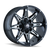 18x9 8x6.5/8x170 4.53BS 8090 Rampage Black/Milled - Mayhem Wheels