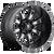 20x9 5x4.5/5x5 5BS D513 Throttle Black Milled - Fuel Off-Road