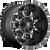 17x9 8x6.5 5BS D517 Krank Black Milled - Fuel Off-Road