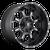 20x10 5x4.5/5x5 5BS D517 Krank Black Milled - Fuel Off-Road