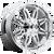 18x9 5x4.5/5x5 4.5BS D530 Hostage Chrome - Fuel Off-Road
