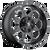 17x9 8x6.5 4.5BS D534 Boost Black Milled - Fuel Off-Road