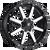 20x9 6x5.5/6x135 5.75BS D537 Maverick Black Machined - Fuel Off-Road