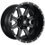 17x10 5x4.5/5x5 4.5BS D538 Maverick Black Milled - Fuel Off-Road