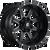 17x10 8x6.5 4.5BS D538 Maverick Black Milled - Fuel Off-Road