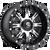 20x10 8x6.5 5BS D541 Nutz Black Machined - Fuel Off-Road