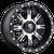 20x10 6x5.5/6x135 5BS D541 Nutz Black Machined - Fuel Off-Road
