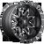 20x9 8x180 5BS D567 Lethal Black/Milled - Fuel Off-Road