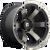 20x9 6x5.5 5BS D564 Beast Black Mach w/Dark Tint - Fuel Off-Road