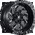 20x9 5x5.5/5x150 5BS D574 Cleaver Black Milled - Fuel Off-Road