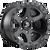 17x9 6x5.5 5.75BS D589 Ripper Matte Black w/ Gloss Blk - Fuel Off-Road