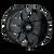 20x10 8x6.5/8x170 4.75BS Type 141 Gloss Black/Milled Spokes - Ion Wheel