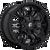 18x9 5x5.5/5x150 5BS D595 Sledge Gloss Black Milled - Fuel Off-Road