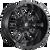 17x9 5x4.5/5x5 4.5BS D596 Sledge Matte Black - Fuel Off-Road