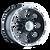 16x8 8x6.5 4.3BS Type 174 Black/Machined Lip - Ion Wheel