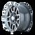 16x8 5x135 4.89BS Type 179 Black/Machine Face - Ion Wheel