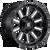 18x9 8x6.5 5.75BS D620 Hardline Gloss Black Mil - Fuel Off-Road