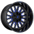 20x9 8x6.5 5.75BS D645 Stroke Gloss Milled Blue - Fuel Off-Road