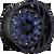 22x12 5x5.5/5x150 4.75BS D645 Stroke Gloss Milled Blue - Fuel Off-Road