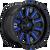 22x12 8x6.5 4.75BS D646 Hardline Gloss Milled Blue - Fuel Off-Road