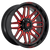 20x9 6x5.5 5BS D663 Ignite Gloss Milled Red - Fuel Off-Road