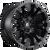 17x10 5x4.5/5x5 4.75BS D560 Vapor Black Matte - Fuel Off-Road