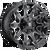 22x12 6x5.5/6x135 4.75BS D578 Battle Axe Gloss Blk Mil - Fuel Off-Road