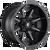 20x9 5x4.5/5x5 5BS D556 Coupler Black Machined - Fuel Off-Road