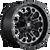 22x12 5x4.5/5x5 4.75BS D561 Crush Matte Blk Mach - Fuel Off-Road