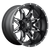 18x9 8x6.5 5BS D567 Lethal Black Milled - Fuel Off-Road