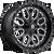 18x9 6x120 5.25BS D588 Titan Black Milled - Fuel Off-Road